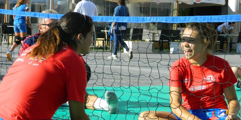 Sitting Volley - Esibizione Piazza Salotto (9)